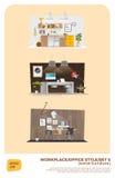 Något affärskontor royaltyfri illustrationer