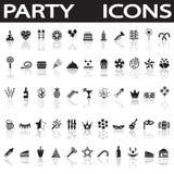 något som är, knappar på burk andra symboler party använd vektorrengöringsduk Royaltyfri Bild