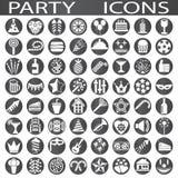 något som är, knappar på burk andra symboler party använd vektorrengöringsduk Fotografering för Bildbyråer