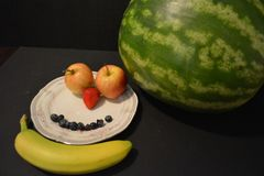 Några av mina favorit- frukter royaltyfri bild