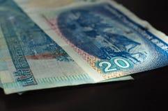 Några 20 dollar Hong Kong sedlar Fotografering för Bildbyråer