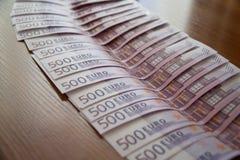 Några eurosedlar Arkivfoto