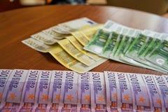 Några eurosedlar Royaltyfria Bilder