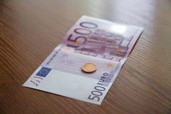 Några eurosedlar Royaltyfria Foton