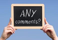 Några kommentarer royaltyfria bilder