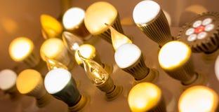 Några ledd blå ljus vetenskap och teknikbakgrund för lampor Royaltyfria Foton