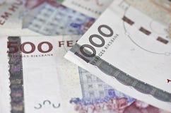 några räkningar för svensk 500 och 1000 Arkivbild