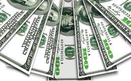 Några sedlar av USA dollar Arkivbilder
