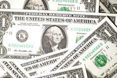 Några USA-sedlar Fotografering för Bildbyråer