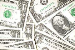Några USA-sedlar Arkivbild