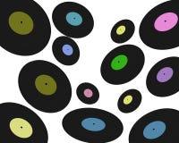 Några vinylplattor på vit Royaltyfri Foto