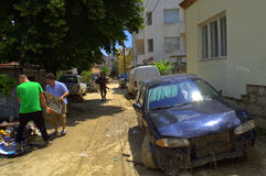 Når att ha översvämmat den Varna Bulgarien Juni 19 Royaltyfria Foton