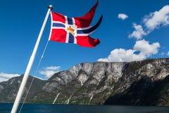 Nærøyfjord Noruega Imagem de Stock Royalty Free
