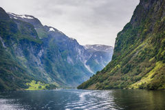 Nærøyfjord - Unesco World Heritage - Norway Stock Image