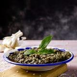 Nègre espagnol d'arroz ou Paella noire Photo stock