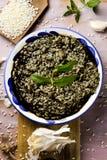 Nègre espagnol d'arroz ou Paella noire Images libres de droits
