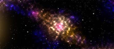 Nébuleuse, étoile et galaxie, fond de l'espace photos stock