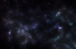 Nébuleuse colorée à l'arrière-plan de l'espace Images libres de droits