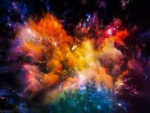 Nébuleuse colorée Images libres de droits