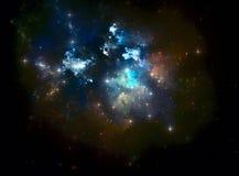 Nébuleuse colorée d'étoile de l'espace Images libres de droits