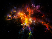 Nébuleuse cosmique Photographie stock