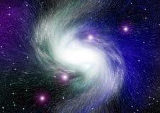 Nébuleuse d'étoiles, de poussière et de gaz dans une galaxie lointaine images libres de droits