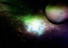 Nébuleuse d'étoiles, de poussière et de gaz dans une galaxie lointaine photographie stock libre de droits