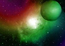 Nébuleuse d'étoiles, de poussière et de gaz dans une galaxie lointaine photos stock