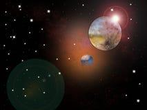 Nébuleuse d'espace lointain Image stock