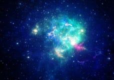 Nébuleuse d'espace lointain Images libres de droits