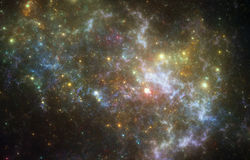 Nébuleuse d'espace lointain Photos stock