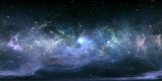 Nébuleuse d'espace lointain Nuage interstellaire géant avec des étoiles Illustration Libre de Droits