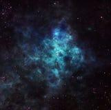 Nébuleuse dans l'espace extra-atmosphérique Photo stock