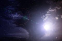 Nébuleuse dans l'espace lointain Photo stock