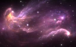 Nébuleuse de l'espace avec des étoiles Pour l'usage avec des projets sur la science, la recherche, et l'éducation Images stock