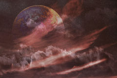 Nébuleuse de l'espace de planète Photo libre de droits
