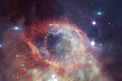 Nébuleuse et galaxies dans l'espace Éléments de cette image meublés par la NASA photos stock