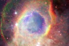 Nébuleuse et galaxies dans l'espace Éléments de cette image meublés par la NASA illustration stock