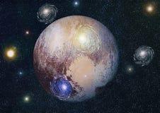 Nébuleuse et galaxies dans l'espace Éléments de cette image meublés par la NASA Images libres de droits