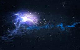 Nébuleuse galactique avec des éruptions légères illustration libre de droits