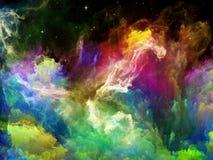 Nébuleuse vive de l'espace Image libre de droits