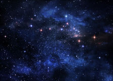 Nébuleuses d'espace lointain Images stock