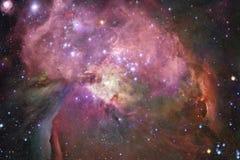 Nébuleuses et étoiles dans l'espace lointain Art cosmique, papier peint de la science-fiction illustration de vecteur
