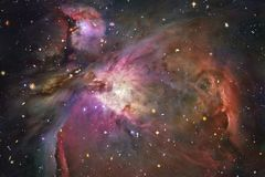 Nébuleuses et étoiles dans l'espace lointain Art cosmique, papier peint de la science-fiction photos stock