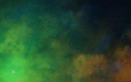 Nébuleuses profondes de l'espace foncé Photo stock