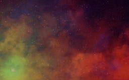 Nébuleuses profondes de l'espace foncé Photo libre de droits
