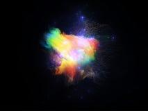 Nébuleuses virtuelles de fractale illustration de vecteur