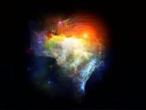 Nébuleuses virtuelles de fractale illustration stock