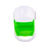 Nébuliseur de compresseur d'inhalateur sur le fond blanc Photographie stock
