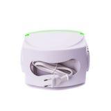 Nébuliseur de compresseur d'inhalateur sur le fond blanc Images stock